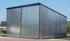 Готовый гараж из профнастила
