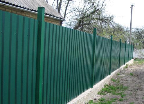 Забор столб профнастил своими руками фото 301