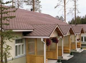 Крыши в низких домах