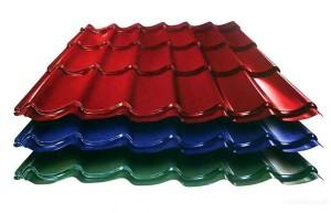 Разноцветная металлочерепица