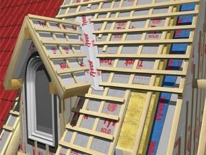 Отделка отдельного окна на крыше