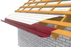 Монтаж слива на крыше