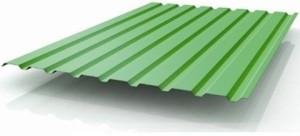 Зеленый лист профнастила