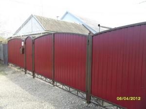 Фигурный забор
