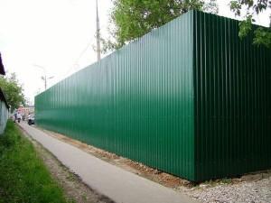 Сплошной забор