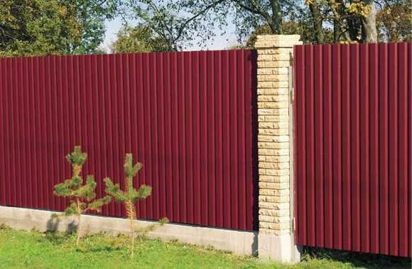 Забор из профилированного листа