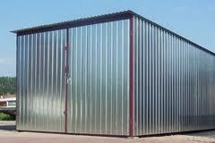 Стена гаража из профнастила