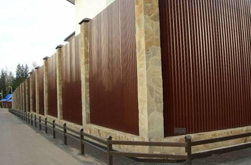 Забор из профлиста С10