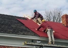 Крыша покрыта профнастилом С8