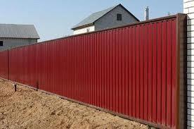 Забор установлен