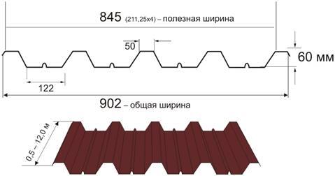 Профнастил Н60