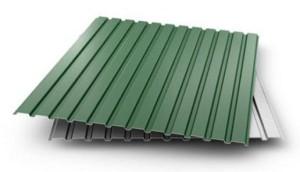 Зеленый профлист для стены