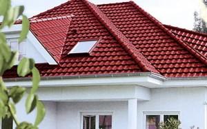 Крыша покрыта металлочерепицей