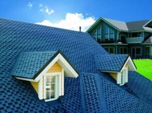 Крыша синего цвета