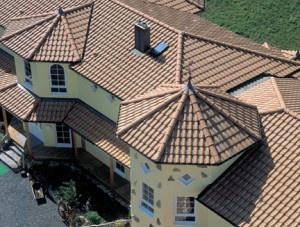 Вид сверху на крышу